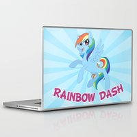 mlp Laptop & iPad Skins featuring MLP FiM: Rainbow Dash by Yiji