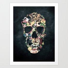 Vintage Skull Art Print