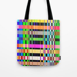 inclined coloured stripes Tote Bag