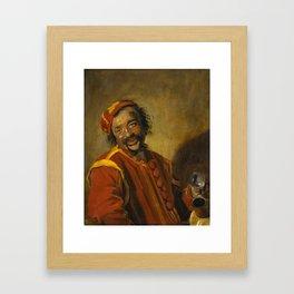 """Frans Hals """"Laughing man with crock, known as 'Peeckelhaeringh or 'Pekelharing'"""" Framed Art Print"""