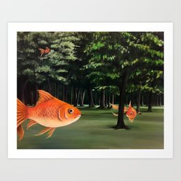 Forest of Fins Art Print