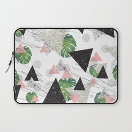 Triangles with leaf Laptop Sleeve