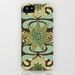 Nine-Pointed Star with Lotus iPhone Case