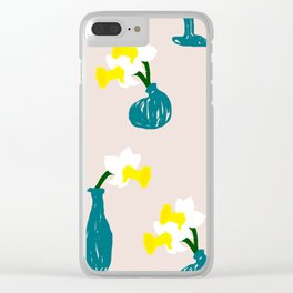 Daffodil Scribble Clear iPhone Case