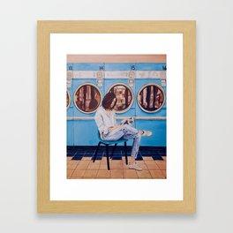 Laundry Day Blues Framed Art Print