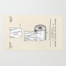 Toilet Paper Roll Patent Rug
