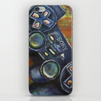 playstation iPhone & iPod Skins featuring Playstation  by Megan Bailey Gill