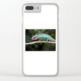 Turquoise Chameleon Clear iPhone Case