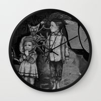 guardians Wall Clocks featuring Guardians by Taylor.Mac