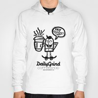 coffe Hoodies featuring Daily Grind Coffe Shop by Gnarleston