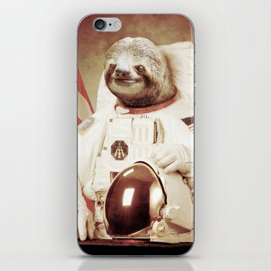 Sloth Astronaut iPhone & iPod Skin