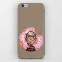 doughnut iPhone & iPod Skins featuring Freddy Doughnut by ajd.abelita