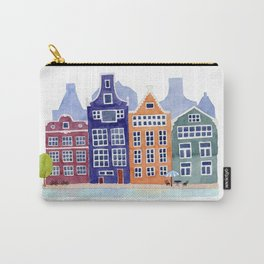 Watercolor Amsterdam Carry-All Pouch
