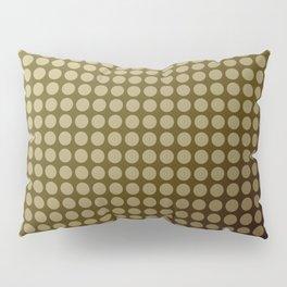 Olive green polka dot pattern . Pillow Sham