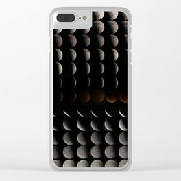Super Moon, Blood Moon, Total Lunar Eclipse timelapse showing all phases Clear iPhone Case