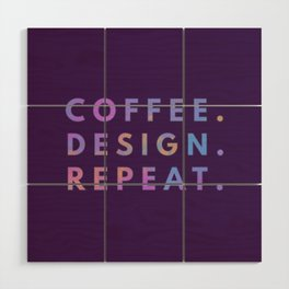 Coffee Design Repeat Wood Wall Art