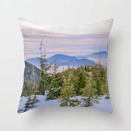 Bowen Island Lookout Throw Pillow