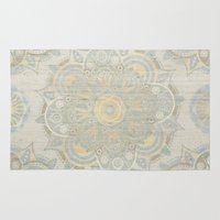 islam Area & Throw Rugs featuring Vintage Mandala by Mantra Mandala