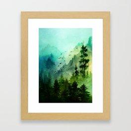 Mountain Morning Framed Art Print