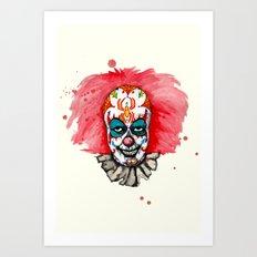 Sugar Skull Clown IT Art Print