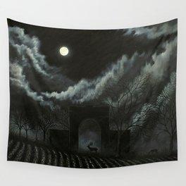 Moonlit Folly Wall Tapestry