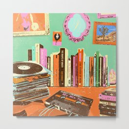 RECORDS N TAPES Metal Print