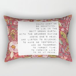 Death must be so beautiful - S. Plath Collection Rectangular Pillow