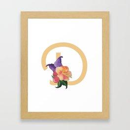D Drop Cap Framed Art Print