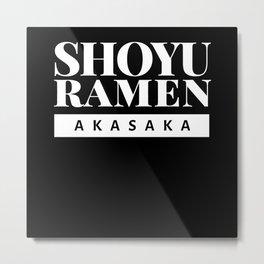 Akasaka Shoyu Ramen T Shirt Metal Print