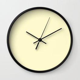 color lemon chiffon Wall Clock