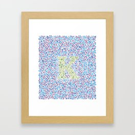 """K"" Eye Test Full Framed Art Print"