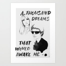a dream that would awake me Art Print