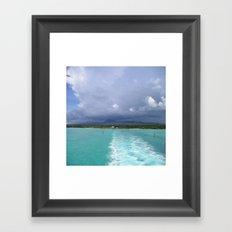 Sea Landspace Framed Art Print