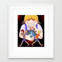 earthbound Framed Art Prints featuring Earthbound 2+3 by m0ny