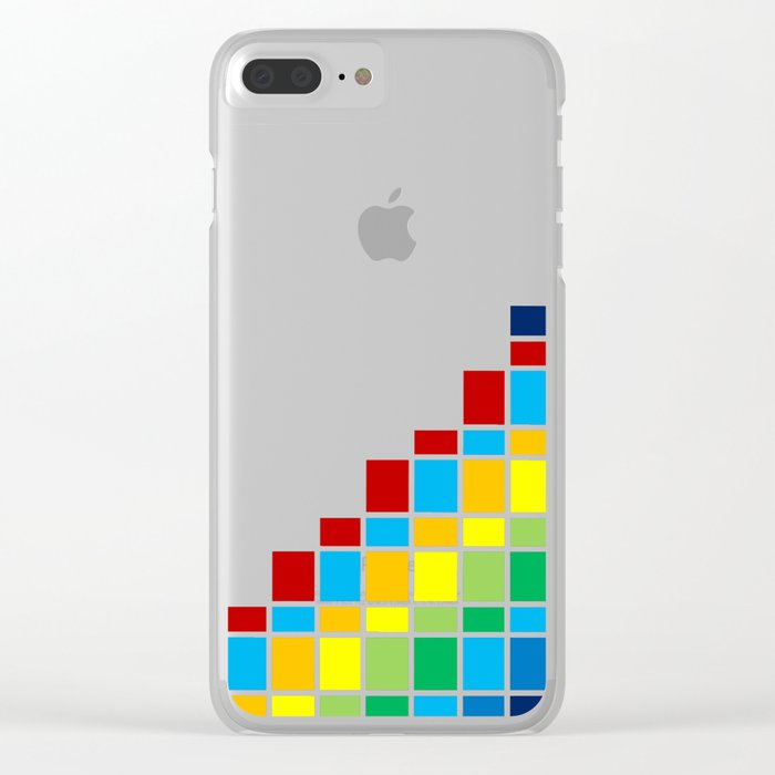 Fuzz Outline Clear iPhone Case