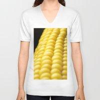 indiana V-neck T-shirts featuring Indiana Corn by Brian Raggatt
