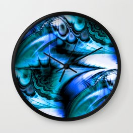 Organic Thought (cerulean azure) Wall Clock