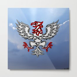 Heraldic Eagle Knot Metal Print