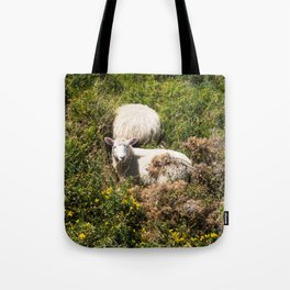 Two Sheep In Scrub Tote Bag
