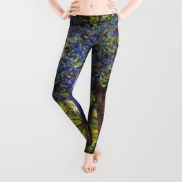 Giverny Blossoming Lilac Landscape, in Monet's Garden by Lillian Cabot Perry Leggings