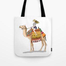 Woman on a Camel Tote Bag