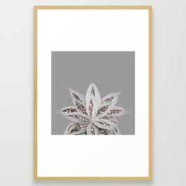 Gray Agave with Rose Gold Glitter #1 #shiny #tropical #decor #art #society6 Framed Art Print