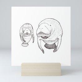 Manatees Mini Art Print