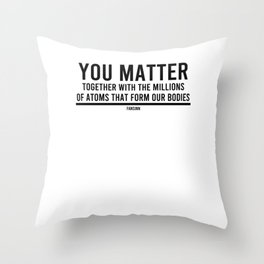 Science nerd teacher research laboratory Throw Pillow