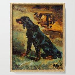 """Henri de Toulouse-Lautrec """"Dun, a Gordon Setter Belonging to Comte Alphonse de Toulouse Lautrec"""" Serving Tray"""