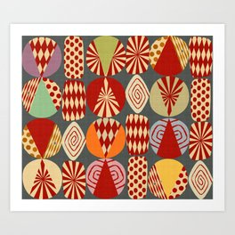 christmas tree MINIMALIST Art Print