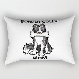 Border Collie Mom Elo Dog Puppy Doggie Mother Rectangular Pillow