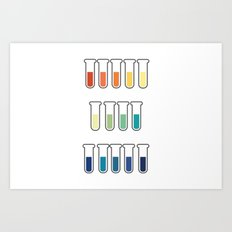 pH Indicators. Art Print