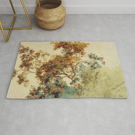 Hans Gude Painting -  Rogneb Rtre Vang 1853  | Reproduction | Norwegian Art Rug