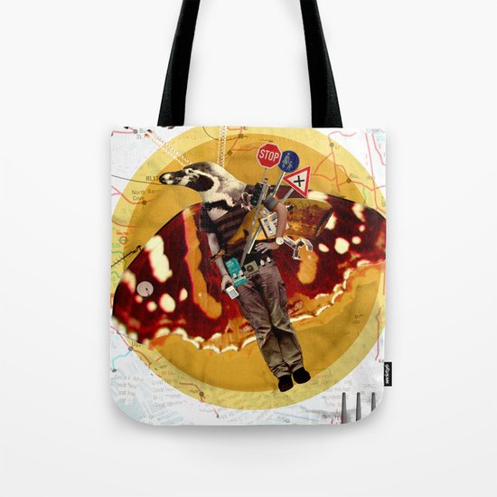 Pinguin Man wants to fly... Tote Bag